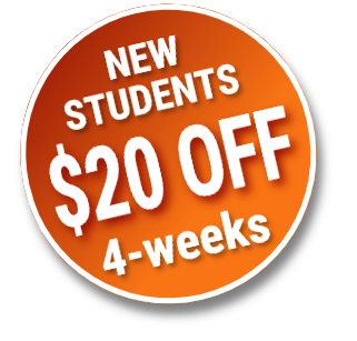 New students discount $20 off
